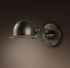 Atelier Sconce- ITEM#68450017 PNCK- PATINA NICKEL- JARDIN - task light for the desk area.