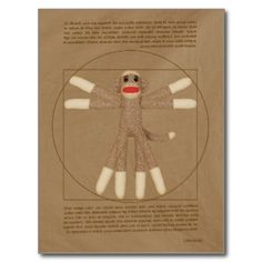 Vitruvian Monkey Postcard