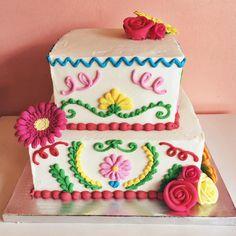 Fiesta cake! #2tartsbakery #buttercream #customcake
