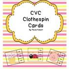 These CVC Clothespin cards are great for your independent centers or for small group instruction.  I like to have these sitting out on my reading t...