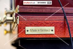 Made in Germany - good quality. shutterstock.com Stockphoto-ID: 591540953 #made #germany #work #job #quality #europe #machine #top #good