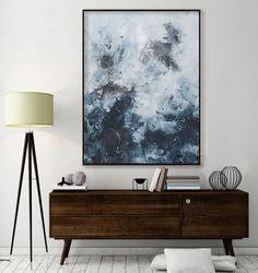 large seascape painting vertical minimalist by ElenasArtStudio