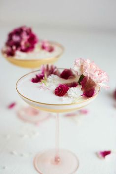 Pretty floral garnishes for your signature cocktail