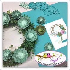 Oh So Succulent wreath from Sandi @ stampinwithsandi.com