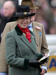 The lifelong equestrian fan looked especially cheerful as she joined the crowds for the th...