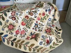 Applique Patterns, Applique Designs, Caswell Quilt, Aplique Quilts, Felt Embroidery, How To Finish A Quilt, Hand Quilting, Baltimore, Quilt Blocks