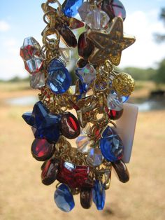 SALE 25 OFF Golden Fourth of July Charm Bracelet by Countryisms, $11.85
