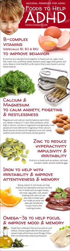 Natural Remedies For Adhd: Vitamins For Adhd - The Real Food Guide image ideas from Health Remedies Tips Natural Cures, Natural Health, Natural Foods, Natural Treatments, Natural Remedies For Adhd, Natural Products, Natural Oil, Natural Treatment For Adhd, Home Remedies For Adhd