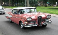 1958 Edsel Pacer. The fall of Edsel became a synonym for corporate disaster. You might not have heard of Edsel unless you're a vintage car collector because Edsel cars were only produced and sold from 1957 to 1960.