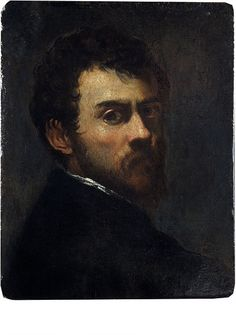 Oil painting: Self-Portrait as a Young Man; Jacopo Tintoretto: self-portrait as a young man.; Tintoretto, Jacopo Robusti; ca. 1548