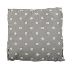 Bloomingville Sitzkissen Cool Grey/Dots