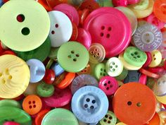 Buttons, ribbon, patches and supplies by StashofButtons Button Flowers, Button Crafts, Sewing A Button, Blue Orange, Rainbow Colors, Different Colors, Sewing Projects, Patches, Etsy Seller