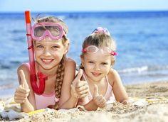 Kids are having fun in Lignano Sabbiadoro, Italy.