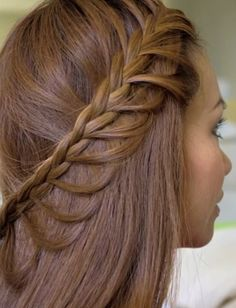 Braided Hairstyle for Girls with Long Hair: Cascading Braids Hairstyle (Tutorial) - Easy Girls Hairstyles