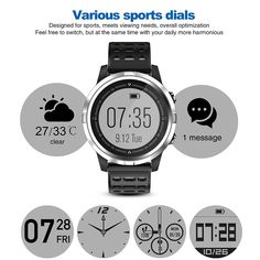 N105 IP68 Waterproof Smartwatch for iPhone Samsung Huawei - US$52.48 Sales Online gray - Tomtop Smartwatch, Apple Technology, Tech Accessories, Smartphone, Samsung, Gray, Future, Iphone, Smart Watch