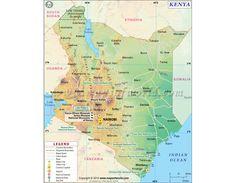 Buy Kenya Map Online | Download Online