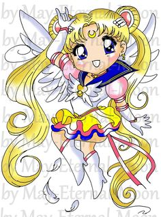 Eternal Sailor Moon | Eternal Sailor Moon Chibi by may-eternal-moon