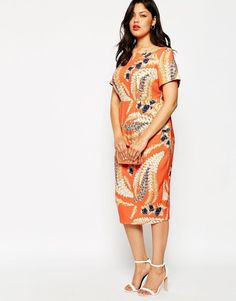 ASOS Curve | ASOS CURVE Floaty Floral Textured Wiggle Dress at ASOS. @linuxgrl1 I think this is available again!