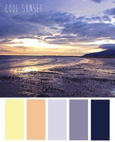 Cool Sunset colour palette