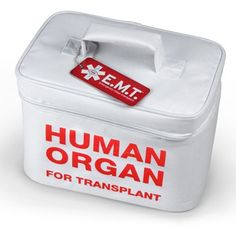 Human Organ Transplant Lunch Box! What a fun gag gift- will have to remember for white elephant gift exchange!