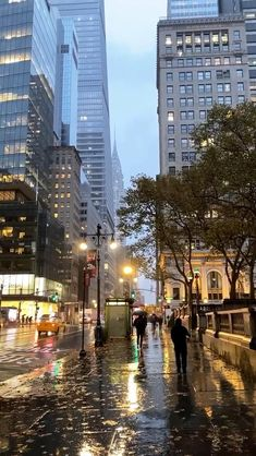 Rainy street of New York