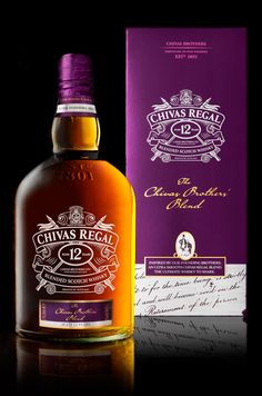 Coley Porter Bell has designed the packaging for the newest permanent member of the Chivas Regal range, The Chivas Brothers' Blend.