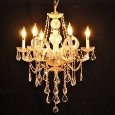 Vintage Gold Large Chandelier > $159.00 Swarovski Crystal, 6 Lights - http://ynueco.net/vintage-gold-large-chandelier-159-00-swarovski-crystal-6-lights/