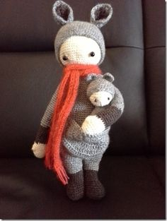 KIRA the kangaroo made by Rosmarie R. / crochet pattern by lalylala