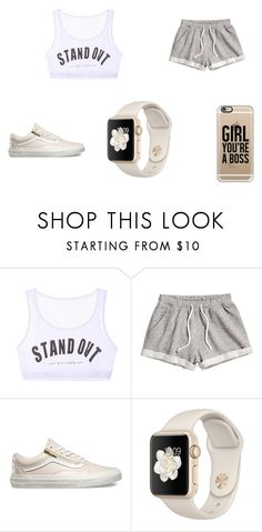 """""""work out"""" by tylerthequeen001 ❤ liked on Polyvore featuring Chicnova Fashion, H&M, Vans and Casetify"""