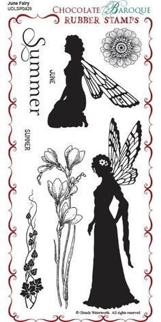 June Fairy Rubber Stamp sheet - DL - Chocolate Baroque