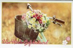 Felicitatiekaart verjaardag met bloemen Paper Board