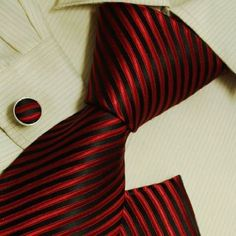 Amazon.com: Black men ties white for best man gifts Red formalwear silk tie cufflinks set handkerchiefs H6048: Clothing