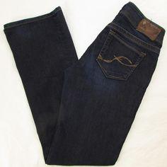 Women Silver Suki Jeans Boot Cut Low Rise Dark Wash Whisking sz 26 X 32 EUC #SilverJeans #BootCut