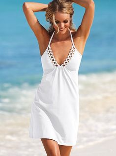 perfect beach coverup from Victorias Secret #swim