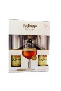 La Trappe Giftbox Bokaal+4flessen