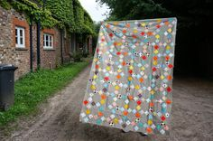 Diary of a Quilter - a quilt blog: Hadley quilt top on tour