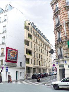 design h2o architectes Cavaignac Creative Modern Extension to 19th Century Building in Paris by h2o architectes