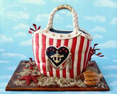 Princess Grace of Monaco ~ nautical cake - Cake by Little Apple Cakes