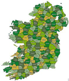Irish Ancestors - Poor Law Unions, 1851 - which also served as Superintendant Registrar's Districts, the areas used in official indexes of births, marriages and deaths.