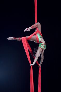 When I was with Ringling Bros I wanted to learn to do this, I thought Desi Espana was so beautiful and graceful flying through the air in silk sheets. Aerial silks are fascinating!