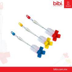 Los Cepillos de limpieza Bibi están diseñados para limpiar de manera eficaz todo tipo de tetinas y biberones... ¡Son libres de PVC!