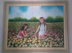 Quadro pintado à mão óleo sobre tela