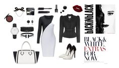 """""""Black & White with Red Accents!"""" by esenyav on Polyvore featuring мода, Michael Antonio, Furla, Bling Jewelry, CLUSE, Lanvin, Christian Dior, Chanel, Lime Crime и white"""