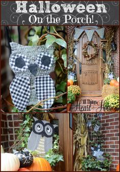 FOUR Kid Friendly (easy) Halloween Projects to get your porch ready for those trick-or-treaters!