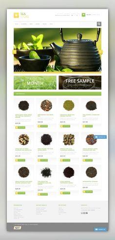 Bracing Tea Store Magento Theme E-commerce Templates, Magento Themes, Food & Restaurant, Drink, Tea Shop Templates