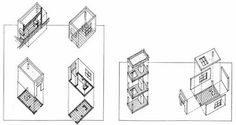 How to draw an Axonometric Projection by the Bartlett Year 1 Architecture Diary