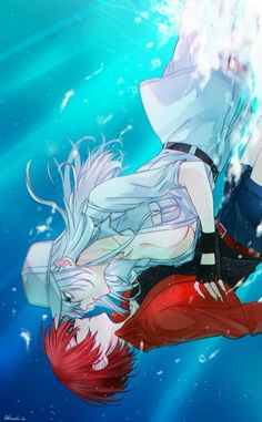 White Blood Cell x Red Blood Cell Fan Art Anime, Anime Love, Anime Guys, Shoujo Ai, Really Cool Drawings, Work Images, Satsuriku No Tenshi, Yuri Anime, Manga Anime