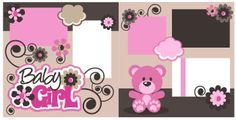 PPbN Designs - Baby Girl Scrapbook Page Kit Cut, $1.99 (http://www.ppbndesigns.com/baby-girl-scrapbook-page-kit-cut/)