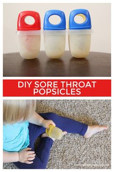 Try these simple popsicles the next time your kids have a sore throat and they will feel better in no time!