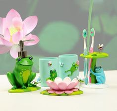 Baby Frog Bathroom Accessories Set